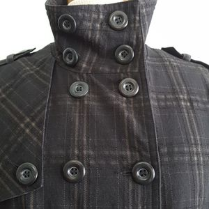 TXT Quilted Plaid Military-style Jacket, Teen (XL)